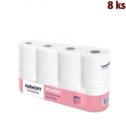 """Toaletní papír tissue 3-vrstvý """"Harmony Professional"""" 250 útržků [8 ks]"""