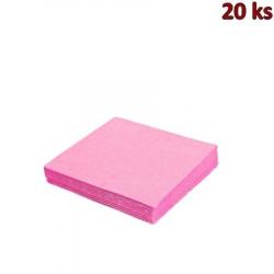 Papírové ubrousky růžové 33 x 33 cm 3-vrst.[20 ks]