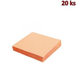 Papírové ubrousky apricot 33 x 33 cm 3-vrst.[20 ks]