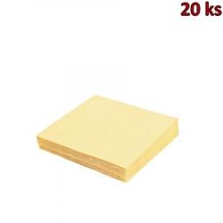 Papírové ubrousky béžové 33 x 33 cm 3-vrst.[20 ks]