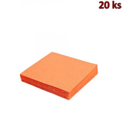 Papírové ubrousky oranžové 33 x 33 cm 3-vrst.[20 ks]