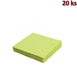 Ubrousky 3-vrstvé, 33 x 33 cm žlutozelené [20 ks]