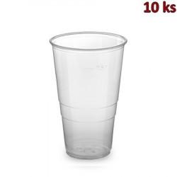 Plastový kelímek průhledný 0,5 l PP [10 ks]