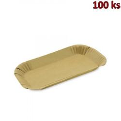 Papírová miska hnědá 15 x 23 x 2 cm [100 ks]