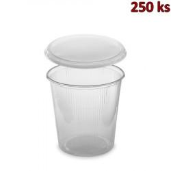Miska kulatá průhledná 500 ml + víčko (PP) [2 x 250 ks]