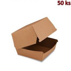 Box na hamburger hnědý 11 x 11 x 9 cm, nepromastitelný [50 ks]