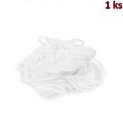 Pruženka k výrobě roušek, bílá (10 m, Ø 2 mm) [1 ks]