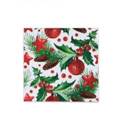 Vánoční ubrousky 3-vrstvé 33x33 - motiv 84021