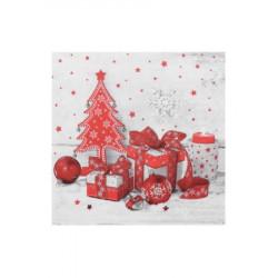 Vánoční ubrousky 3-vrstvé 33x33 - motiv 84279