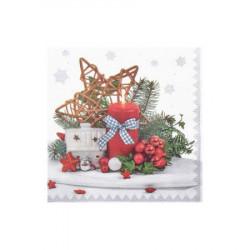 Vánoční ubrousky 3-vrstvé 33x33 - motiv 84294