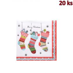 Vánoční ubrousky 3-vrstvé 33x33 - motiv 84170