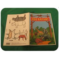 Vystřihovánka a omalovánka A4 - ZOO Safari (4 listy)
