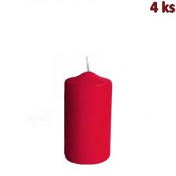 Svíčka válcová Ø 50 x 100 mm červená [4 ks]