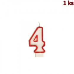 """Narozeninová svíčka číslo """"4"""" 75 mm [1 ks]"""