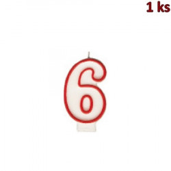 """Narozeninová svíčka číslo """"6"""" 75 mm [1 ks]"""
