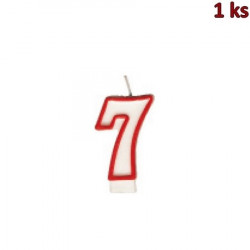 """Narozeninová svíčka číslo """"7"""" 75 mm [1 ks]"""