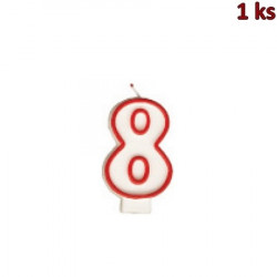 """Narozeninová svíčka číslo """"8"""" 75 mm [1 ks]"""
