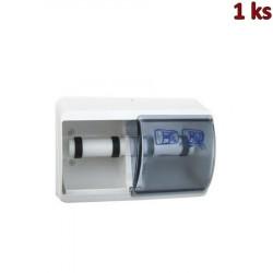 Plastový zásobník toaletního papíru, dvojitý, bílý [1 ks]