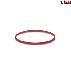 Gumičky červené slabé (1 mm, Ø 8 cm) 50 g [1 bal.]