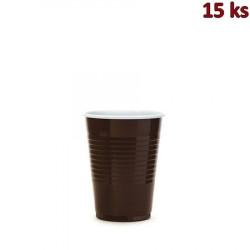 Kávový kelímek hnědo-bílý 0,18 l PP [15 ks]