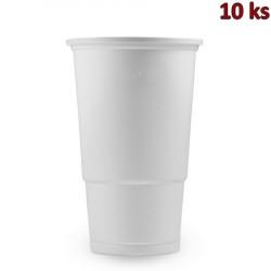 Plastový kelímek bílý 0,5 l PP [10 ks]