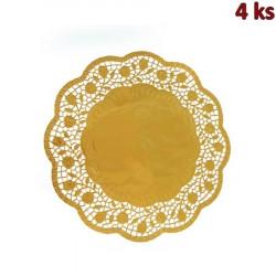 Dekorativní krajky kulaté, zlaté Ø 30 cm
