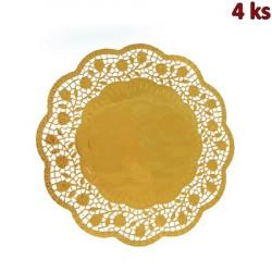 Dekorativní krajky kulaté, zlaté Ø 36 cm