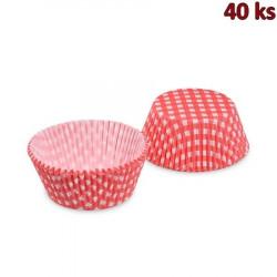Cukrářské košíčky KARO červené Ø 50 x 30 mm
