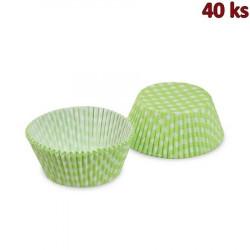 Cukrářské košíčky KARO zelené Ø 50 x 30 mm