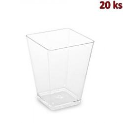 Fingerfood kelímek hranatý, čirý 5,8 x 5,8 x 7,6 cm - 160 ml [20 ks]