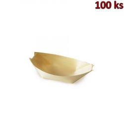 Fingerfood miska dřevěná, lodička 9 x 6 cm [100 ks]