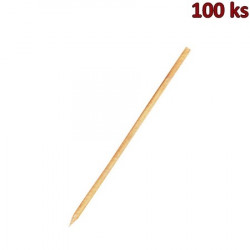 Dřevěné špejle hrocené 25 cm, Ø 3 mm [100 ks]