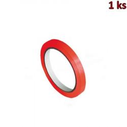 Lepící páska pro zavírací strojek, červená 66m x 9mm [1 ks]