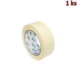 Lepící páska krepová bílá 50 m x 38 mm (do +80°C) [1 ks]