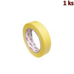 Lepící páska krepová, žlutá 50 m x 25 mm [1 ks]