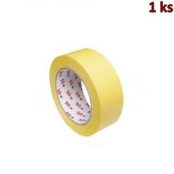 Lepící páska krepová, žlutá 50 m x 38 mm [1 ks]