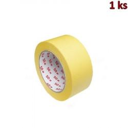Lepící páska krepová, žlutá 50 m x 50 mm [1 ks]