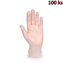 Rukavice vinylové bílé, pudrované (vel. S) [100 ks]