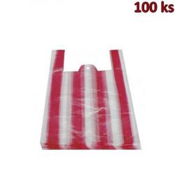 Mikrotenové tašky 10 kg pruhované 30 + 16 x 52 cm [100 ks]