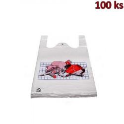 Mikrotenové tašky ŘEZNÍK 25 + 12 x 47 cm [100 ks]