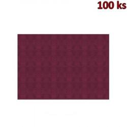 Papírové prostírání 30 x 40 cm bordové [100 ks]
