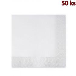 Papírové ubrousky 2-vrstvé, 40 x 40 cm bílé [50 ks]