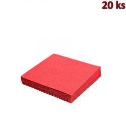 Papírové ubrousky červené 33 x 33 cm 3-vrst [20 ks]