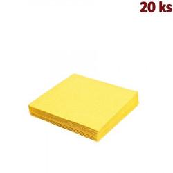 Papírové ubrousky žluté 33 x 33 cm 3-vrst [20 ks]