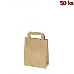 Papírová taška hnědá 18 x 8 x 22 cm [50 ks]