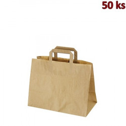 Papírové tašky 32x17 x 25 cm hnědé [50 ks]