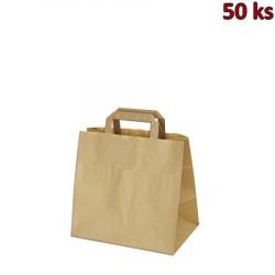 Papírová taška hnědá 26 x 17 x 25 cm [50 ks]