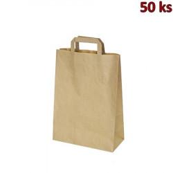 Papírové tašky 22x10 x 28 cm hnědé [50 ks]