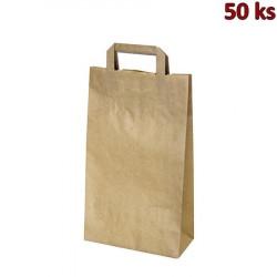 Papírové tašky 22x10 x 38 cm hnědé [50 ks]