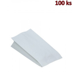 Papírové sáčky nepromastitelné bílé 13+8 x 28 cm [100 ks]